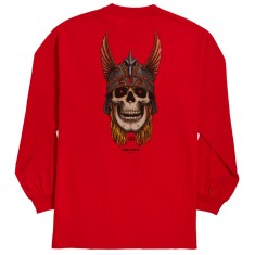 Powell-Peralta Andy Anderson Skull Long Sleeve T-Shirt - Red