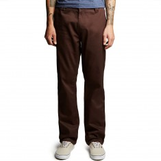 Altamont A/989 Straight Chino Pants - Dark Brown