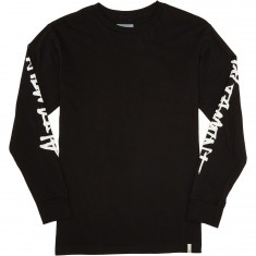 Altamont One Liner Long Sleeve T-Shirt - Black/White