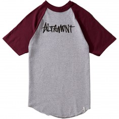 Altamont One Liner Raglan T-Shirt - Grey/Burgundy