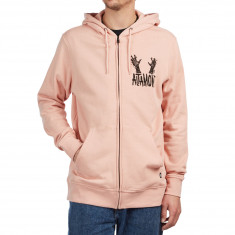 Altamont Mashed Zip Up Hoodie - Peach