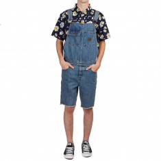 Altamont Denim Cutt Off Overall Shorts - Bleached Stone