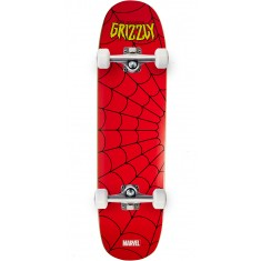 """Grizzly X Spiderman Skateboard Complete - 8.375"""""""