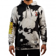 Grizzly X Spiderman Hoodie - Black Tie Dye