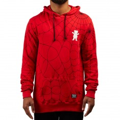 Grizzly X Spiderman Webbed Hoodie - Red