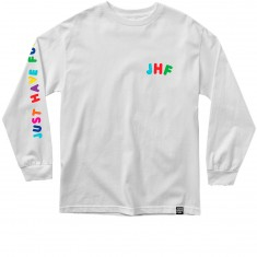 Just Have Fun Hold Up Longsleeve T-Shirt - White