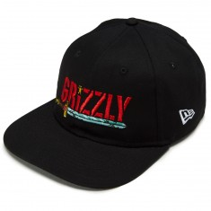 Grizzly X Adventure Time Grizzly Time Snapback Hat - Black