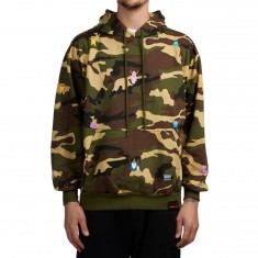 Grizzly X Adventure Time Life Burrito Hoodie - Camo