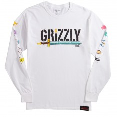 Grizzly X Adventure Time Grizzly Time Longsleeve T-Shirt - White