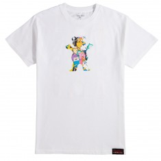 Grizzly X Adventure Time Like Your Brain And Stuff T-Shirt - White