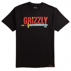 Grizzly X Adventure Time Grizzly Time T-Shirt - Black