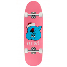 Tired Pig Upside Down Face On Sigar Skateboard Complete - 9.25""
