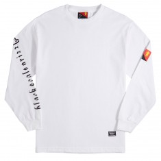 Grizzly X BLVCK Flag Long Sleeve T-Shirt - White