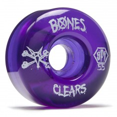Bones SPF Skateboard Wheels - Clear Purple - 55mm