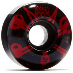 Bones 100's #10 Skateboard Wheels - Black - 100a - 51mm