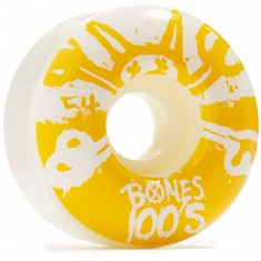 Bones 100's #10 Skateboard Wheels - White - 100a - 54mm