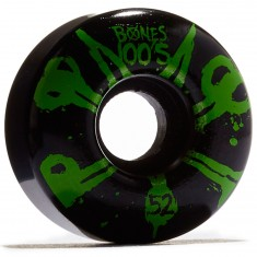 Bones 100's #10 Skateboard Wheels - Black - 100a - 52mm