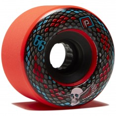 Powell Peralta Snakes Longboard Wheels - Red - 66mm 75a