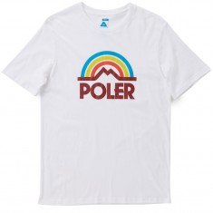 Poler Mountain Rainbow T-Shirt - White