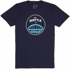 Casual Industrees Old Seattle T-Shirt - Navy Blue