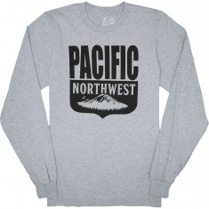 Casual Industrees PNW Shield Longsleeve T-Shirt - Heather Grey