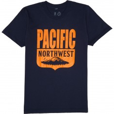 Casual Industrees PNW Shield T-Shirt - Navy Blue