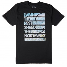 Casual Industries Damn The Rest- Stevens Pass T-Shirt - Black