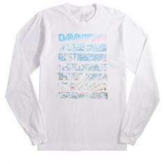 Casual Industries Damn The Rest- Stevens Pass Long Sleeve T-Shirt - White