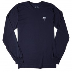 Casual Industries Umbrella Embrodiery Long Sleeve T-Shirt - Navy Blue