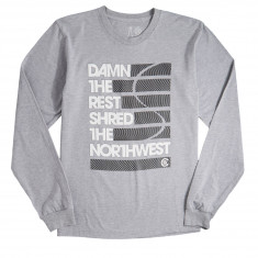 Casual Industrees Damn The Rest Long Sleeve T-Shirt - Heather Grey
