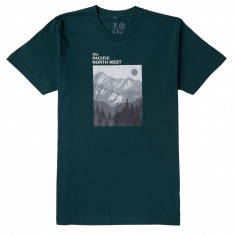 Casual Industrees PNW Mountain Layers T-Shirt - Forest Green