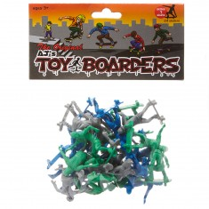 AJ's Toy Boarders 24-Pack Skate Series 1  - Green/Grey/Blue