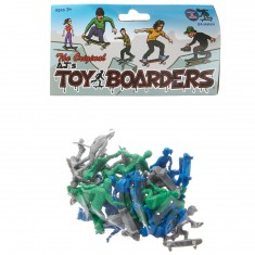 AJ's Toy Boarders 24-Pack Skate Series 2  - Green/Grey/Blue