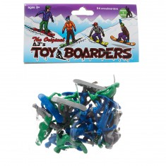 AJ's Toy Boarders 24-Pack Snow Series 1  - Green/Grey/Blue