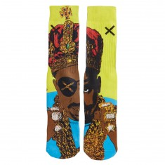 Odd Sox Slick Rick The Ruler - Yellow/Blue/Gold