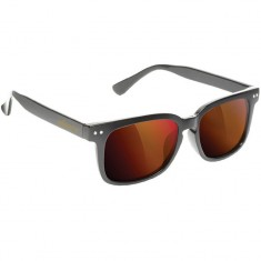 Glassy Lox Sunglasses - Matte Black/Red Mirror