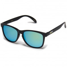 Glassy Deric Cancer Hater Sunglasses - Matte Black/Gold Mirror