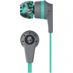 Skullcandy Ink'd 2.0 Mic'd Headphones - Grey/Mint/Grey