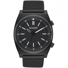 Nixon Brigade Leather Watch - All Black