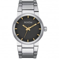 Nixon Cannon Watch - Black Stamped/Gold