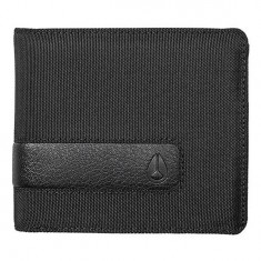 Nixon Showdown Bi-Fold Zip Wallet - All Black Nylon