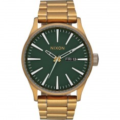 Nixon Sentry SS Watch - Palm Green/Brass