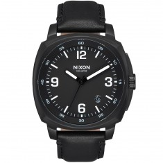 Nixon Charger Leather Watch - All Black