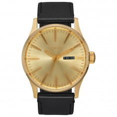 Nixon Sentry Leather Watch - All Gold/Black