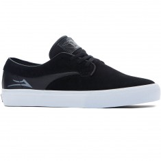 Lakai Riley Hawk Shoes - Black/White Suede
