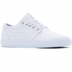 Lakai Griffin Shoes - White Canvas