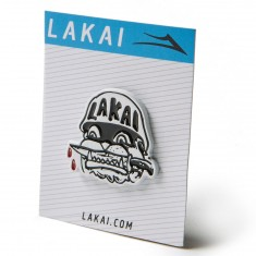 Lakai Street Dogs Pin - Black/White