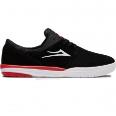 Lakai Freemont Shoes - Black Suede/Red
