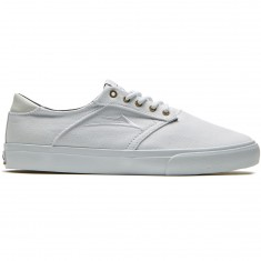 Lakai Porter Shoes - White/White Canvas