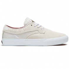 Lakai Riley Hawk X Indy Shoes - White Suede
